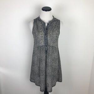 Topshop Leopard Print Sleeveless Tunic